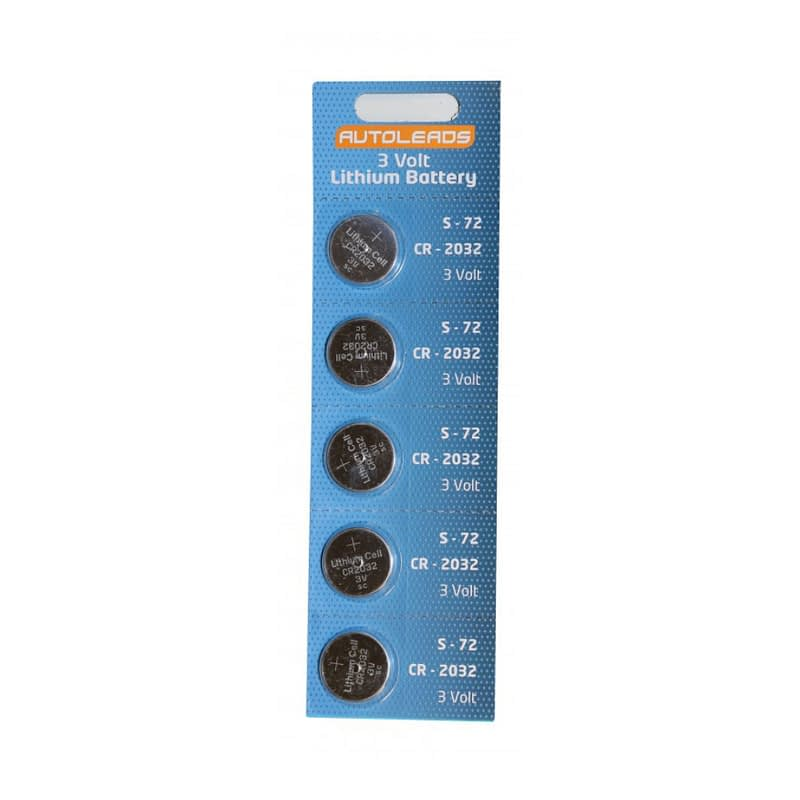 Autoleads cr20132 coin cell 3v batteries pack of 5