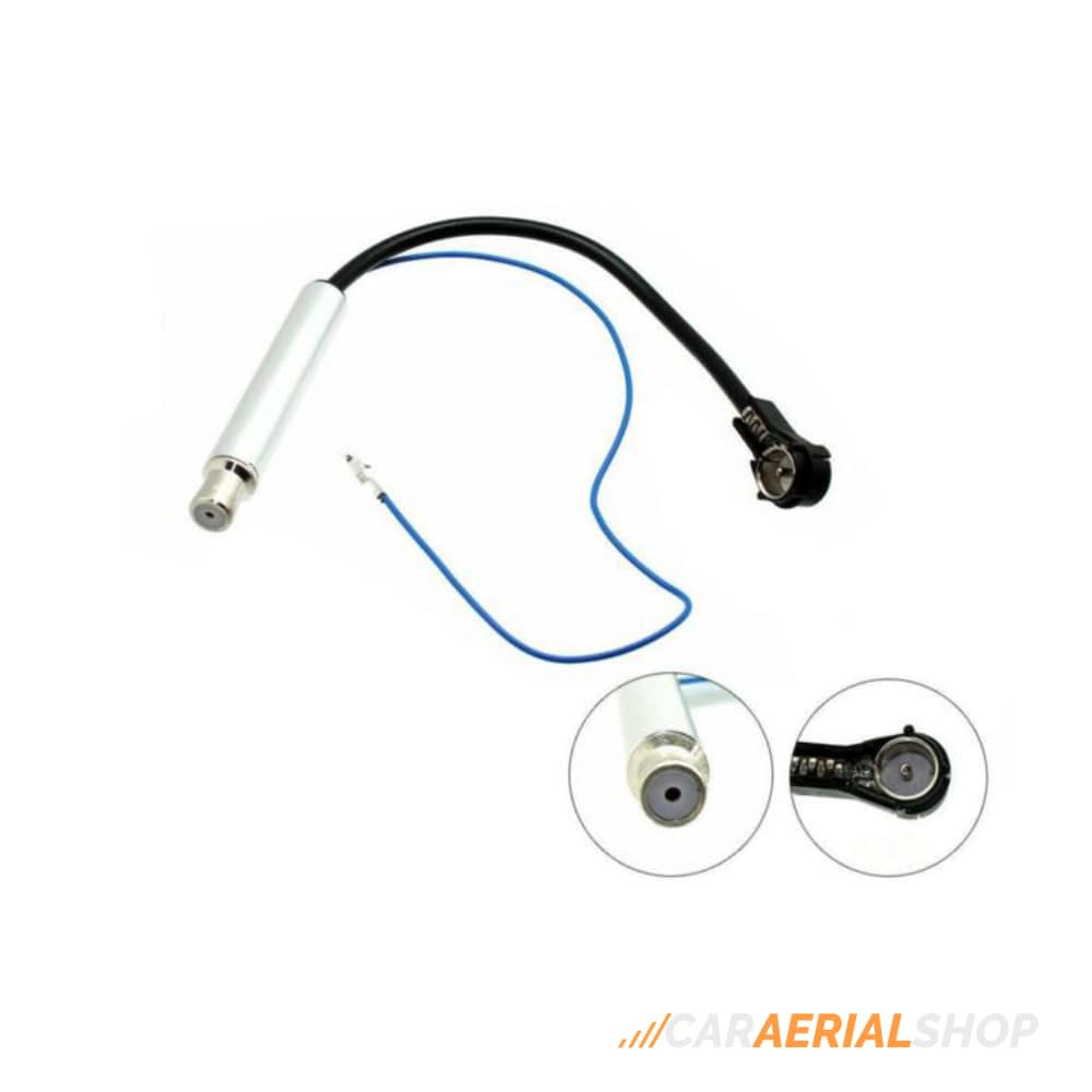 Audi A6 A8 TT ISO Car Aerial Booster Amplified Antenna Lead Adaptor