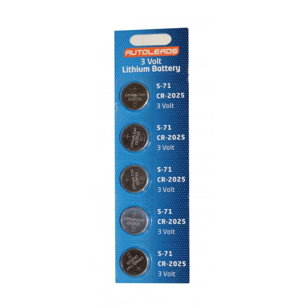 Autoleads 2025 Coin Cell Batteries pack of 5