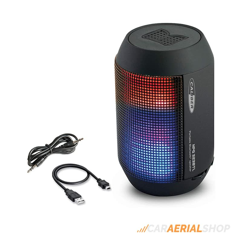 Caliber-HPG323BTL-Portable-Bluetooth-Speaker-with-LED-Light-and-Rechargeable-Battery-ACCESSORIES